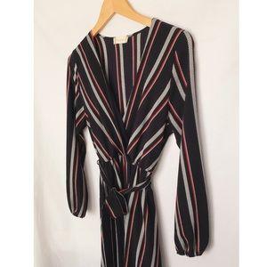 Altar'd State Navy Long Sleeve Maxi Dress